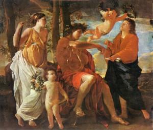 Η έμπνευση του ποιητή (περ. 1630) Νικολά Πουσέν