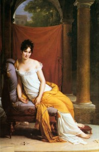 Portrait of Madame Recamier Francois Gerard (1805)