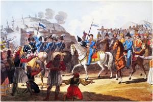 Η άφιξη του Οθωνα στο Ναύπλιο. Μέχρι το 1838 τ΄ «αποβατήρια» ήταν η μοναδική …εθνική γιορτή, μαζί με τα γενέθλια του μονάρχη