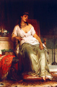 Cleopatra Thomas Francis Dicksee (1876)
